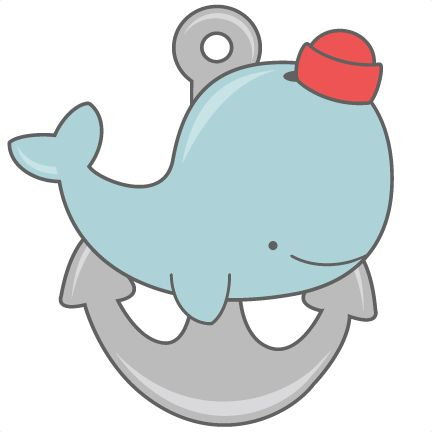 Daily Freebie 3-14-15: Miss Kate Cuttables--Whale With Anchor SVG cut files for scrapbooking silhouette cut files svgs for cricut free svgs cute clipart clip art