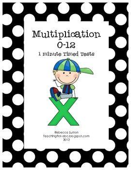 Multiplication timed tests!