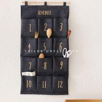 Дядя портной мешок хранения zakka перчатки с multi карманы creative общежитие wall повиснуло дверь за стенами