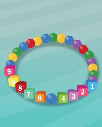 PULSEIRA COM TELEFONE | Se você tem medo que seu filho se perca durante um passeio, faça uma pulseira com seu número de telefone. Para montar, basta comprar um elástico, miçangas coloridas e com números