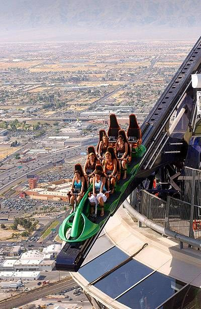 Stratosphere Tower Ride - X Scream! Talk about an extreme adrenaline rush! I'm adding this to my to do list :) - Learn all about My First Hacked Travel Trip (to Las Vegas) and how I saved $1,023.88 http://travelnerdnici.com/first-hacked-travel-trip-las-vegas/ - Explore the World with Travel Nerd Nici, one Country at a Time. http://TravelNerdNici.com