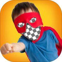 Gezicht Effect In Gat voor Instagram - Grappige fotobewerking Met Superheld Mask & Kostuum' van KITE GAMES STUDIO