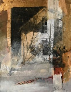 "Where ART Lives Gallery Artists Group Blog: Contemporary Mixed Media Art Painting, Fine Art For Sale, Collage,House ""Not Forgotten"" by Intuitive Artist Joan Fullerton"