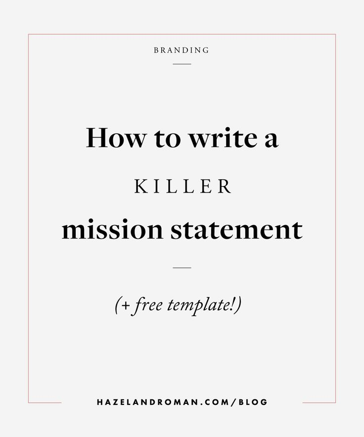 25+ Best Mission Statements Ideas On Pinterest | Writing A Mission