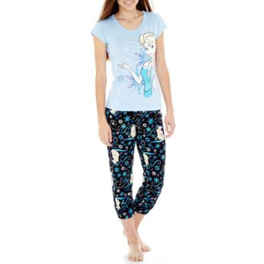 Frozen Short-Sleeve Tee and Capris Pajama Set  found at @JCPenney