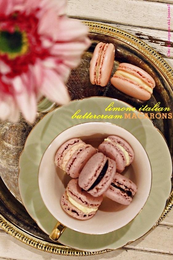 Limone Italian Buttercream Macarons