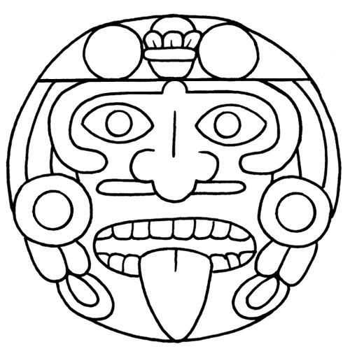 Colorear arte azteca si