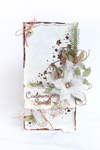 Blog Craft Passion: Ecru and copper / Ecru i miedziany brokat