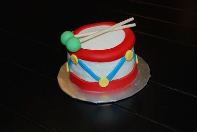 Little drummer boy {3D Toy Drum Cake} | A Little Something Sweet - Custom Cakes