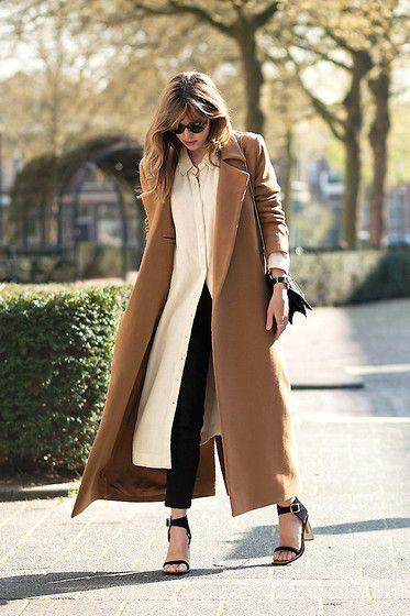 Christine R. - Charlie May Coat, Ganni Shirt Dress, Céline Sandals - Transitioning