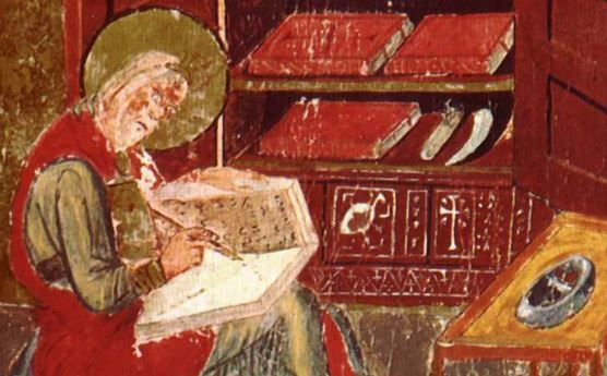 """the Venerable Bede (672/3-735 AD) - Anglo-Saxon monk who wrote """"Historia ecclesiastica gentis Anglorum"""" (Ecclesiastical History of England), available online in English at http://www.gutenberg.org/ebooks/38326"""