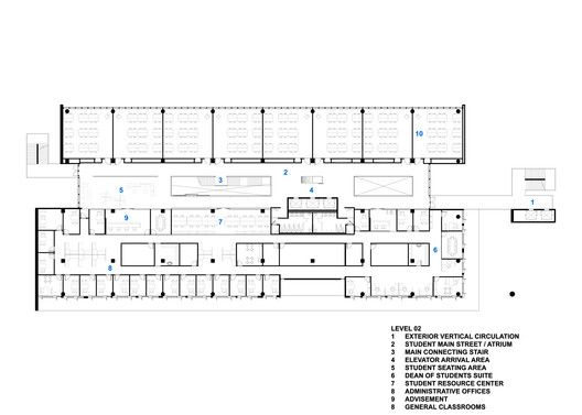 Miami Dade College Academic Support Center,Level 2 Plan