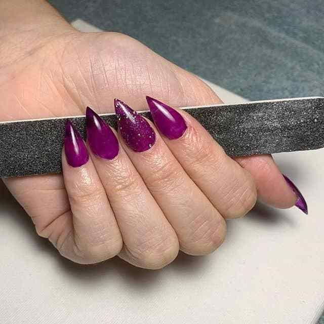 Acrylic Nails Are A Chemical Mixture Of Polymer Powder And Monomer Liquid This Creates A Hard Chemical Pointy Acrylic Nails Acrylic Nail Shapes Acrylic Nails