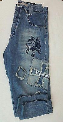 Mens Vintage South Pole Jeans Baggy Loose Size 36