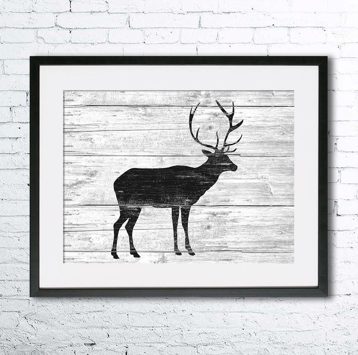 Deer art illustration, Deer painting, Nautical, Wall art, Rustic Wood art, Animal print, Home Decor, Animal silhouette, Kitchen decor  Printed especially for you!  CUSTOMISATION Please dont hesitate to contact me for personalization and/or change of colors or dimensions. SIZE  Standard sizes, fit in frames found in big shops like IKEA • 5x7(13cmx18cm) - leaving extra for matting • 8x10(20cmx25cm) - leaving extra for matting - US • 8x12(20cmx30cm) - leaving extra for matting - EU • 12x16(...