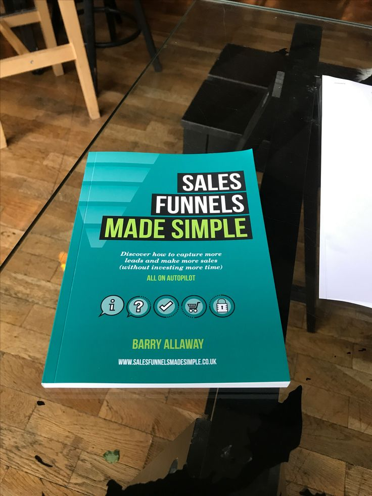 Sales funnels made simple - book  www.salesfunnelsmadesimple.co.uk/book