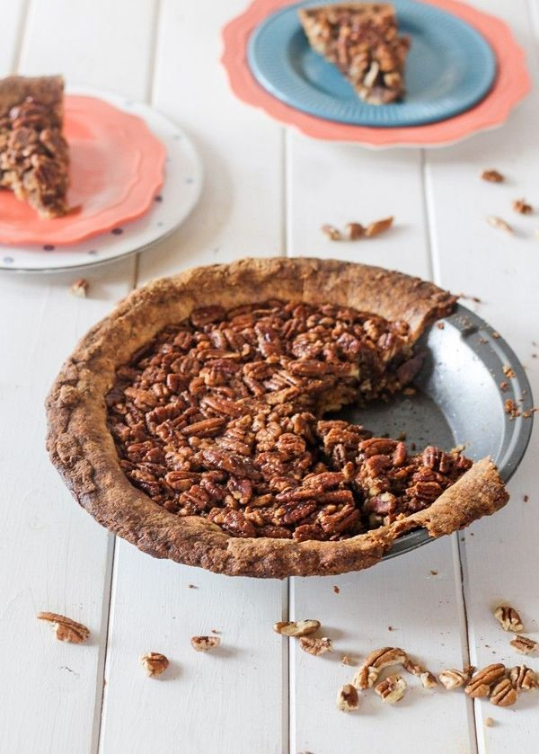 This Paleo Pecan Pie is a healthier version of a holiday favorite! This recipe is a gluten-free, grain-free, refined sugar-free alternative to traditional pecan pie with the best Paleo pie crust I've ever tried!