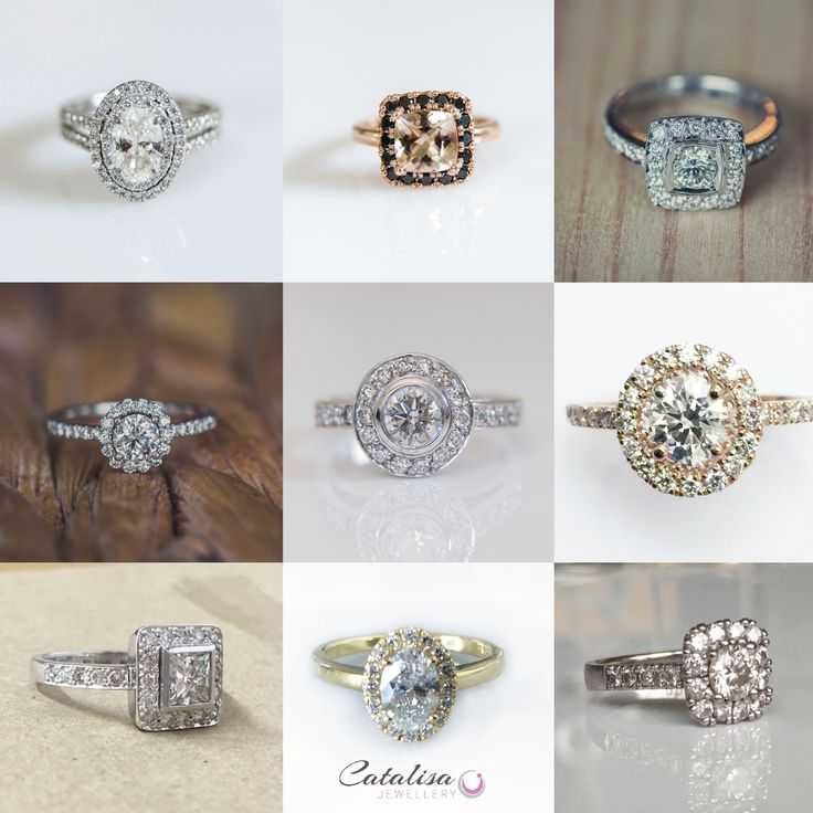 Past Halo-style rings we have designed for our special customers.