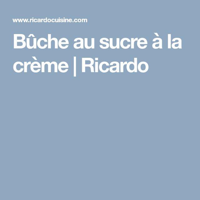 Bûche au sucre à la crème | Ricardo