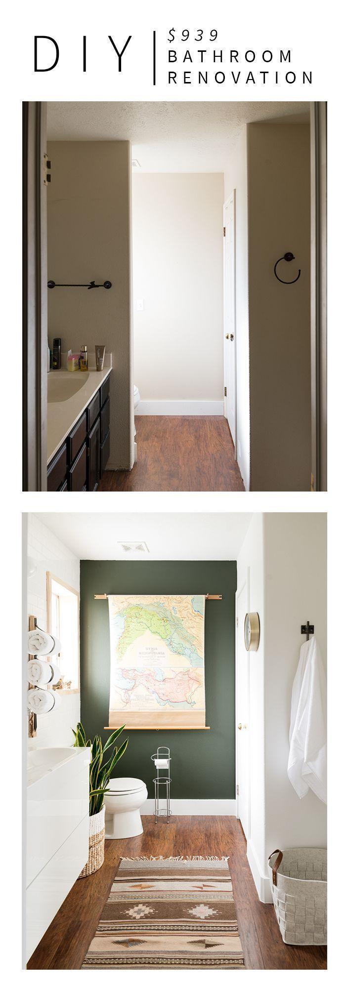 $939 DIY Bathroom Renovation!!! SO MANY GREAT IDEAS!!   Bathroom Makeover Ideas   Contemporary Bathroom Decor   Vintage Revivals