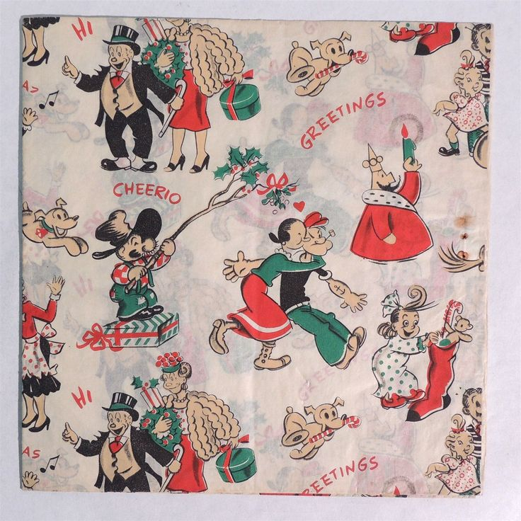 1000+ images about Gift wrap, Christmas, Vintage, mine on ...