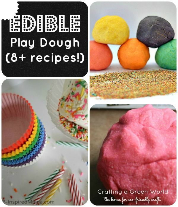 Whether you've got a kid who still puts everything into his mouth or an older kid that needs a change of pace, we've got edible play dough recipes for you!