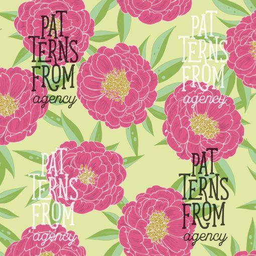 Garden – Peony by Noora Hattunen  #patternsfromagency #patternsfromfinland #pattern #patterndesign #surfacedesign #printdesign #noorahattunen