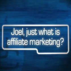 Joel Comm clearly explains just what Affiliate Marketing is. You can get started quickly now and hit the ground running with any affiliate program, to