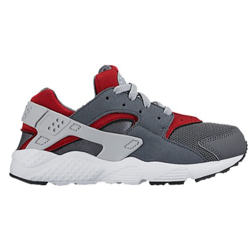 nike huarache black and grey,Nike Huarache Run - Boys' Preschool - Running  - Shoes - Dark Grey/Wolf Grey/Gym Red/White/Black-sk