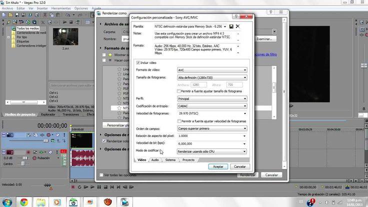 Como renderizar rápido en Sony Vegas Pro 13, 12, 11 [1080/720] 2016