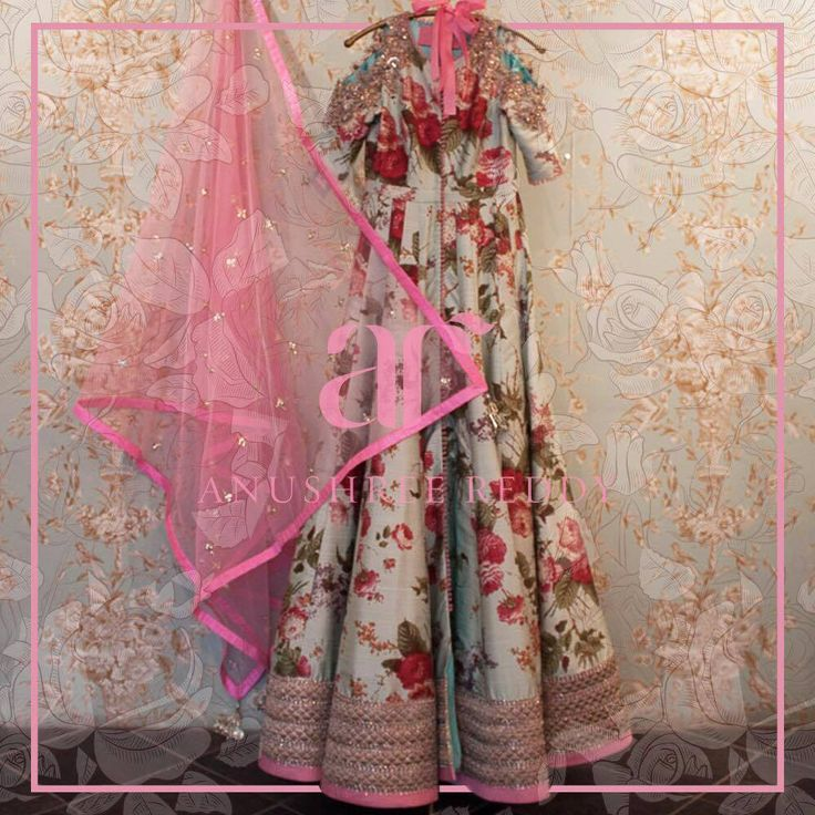 Anushree Reddy designed romantic Anarkali with ruby red blossoms is your perfect summer soir pick!   26 April 2017