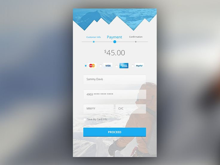 Day 002 of the Daily UI Challenge - Credit Card Screen. The recent weather has influenced this shot. Stay safe everyone.