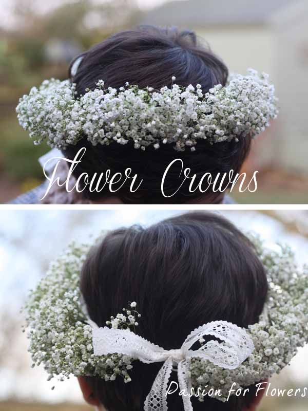 Lovely Gypsophila floral crown #Wedding #Flowers www.passionforflowers.net