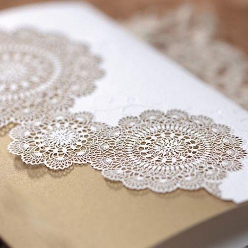 A meghívó kiváló minőségű dekoratív papírból készül. A borítón szelíd dombornyomás és lézervágott csipkeminta, amelyen keresztül látható az arany színű papír. A betétlap matt ekrü.    Minimális rendelési mennyiség: 10 db  Boríték: az ár tartalmazza!     Megrendelés menete:  -    Megrendelés leadás   -  A megrendelés visszajelzésben található linken elküldeni     a meghívóba szánt szöveget.   -  megrendelést követő 5 munkanapon belül látványtervet     küldünk…