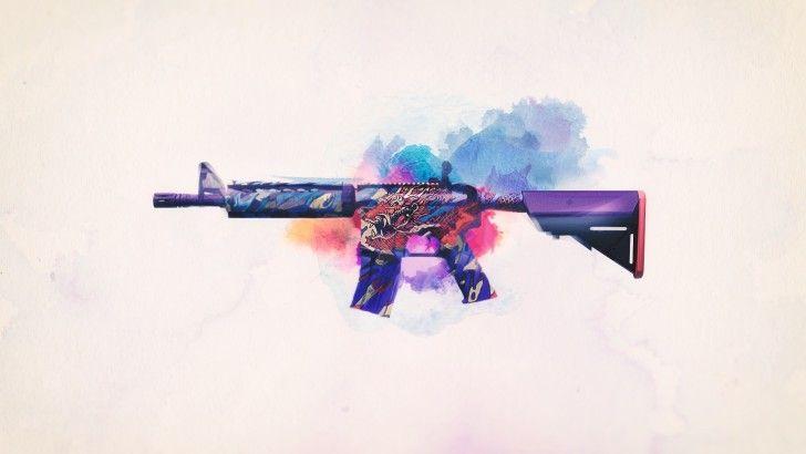 Download M4A4 Dragon King CSGO Assault Rifle Wallpaper 1920x1080