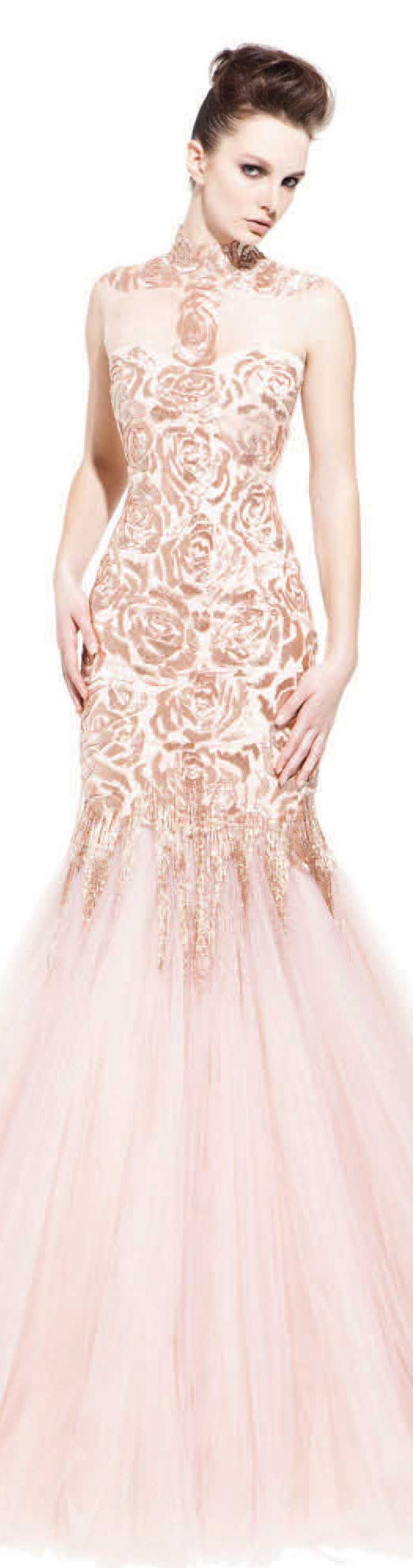 PAVONI Collection - Fall/Winter 2012 #long #nude #dress