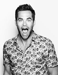 Chris Pine. Clickie for gif with weird faces that rival those of Joseph Gordon-Levitt.