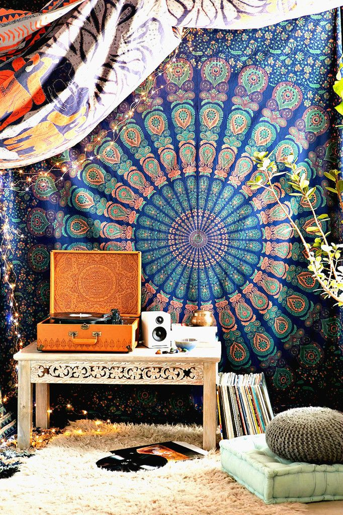 Odette Bohemian Blue Wall Tapestry - GoGetGlam  - 1