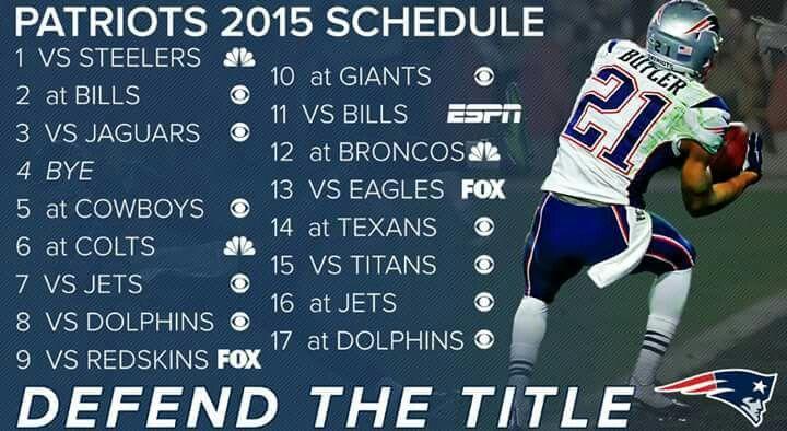 New England Patriots 2015 schedule