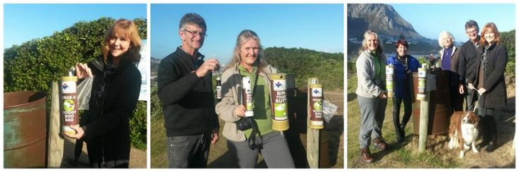 Doggy Doo bag dispensers now on the Hermanus Cliff path