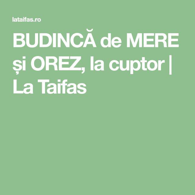 BUDINCĂ de MERE și OREZ, la cuptor | La Taifas