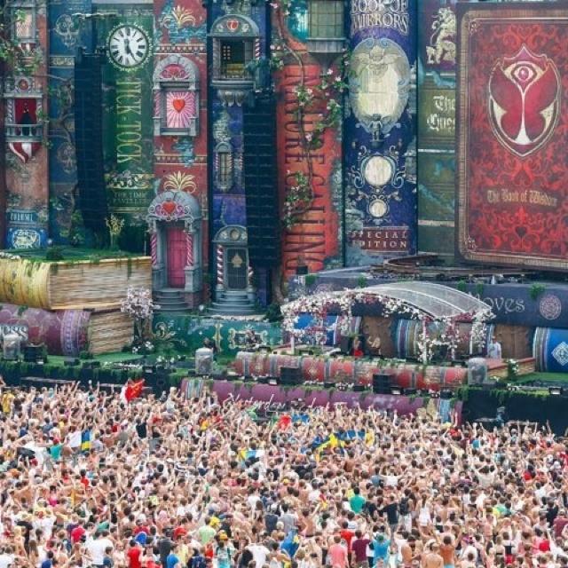 Tomorrowland music festival in Belgium