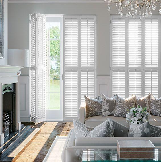 Best 25 white shutters ideas on pinterest outdoor - Discount interior plantation shutters ...