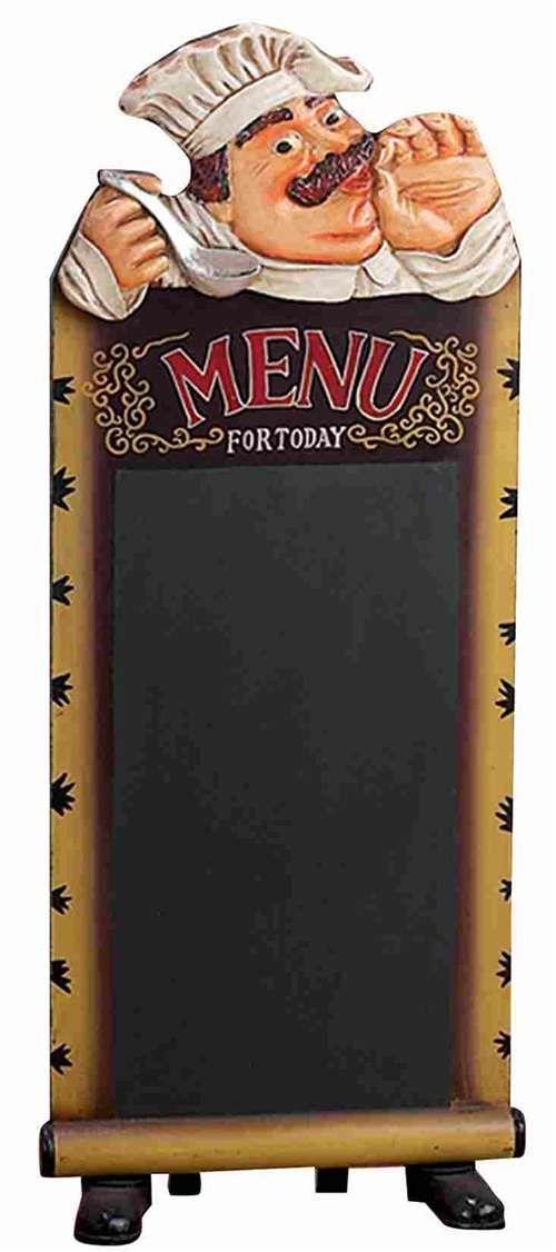 Black Polystone Chef Chalkboard For Dining Area Chef Kitchen Decorbistro
