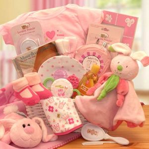hunny bunnyu0027s new baby girl gift basket