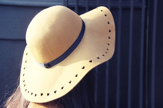 Sweet Heart Shaped Cut Out Hat