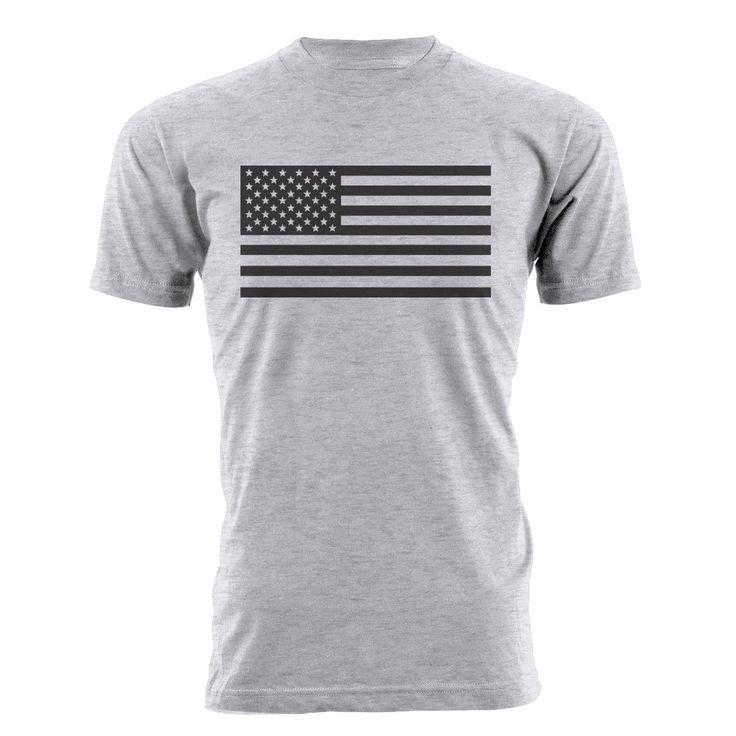 American Flag Shirt - Unisex/Men's American Flag T-shirt. by BeardedDogPrintsLLC on Etsy