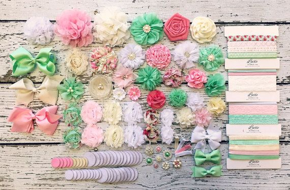 Baby Shower DIY Headband Making Station  MAKES 30 by LuxeSupplyCo