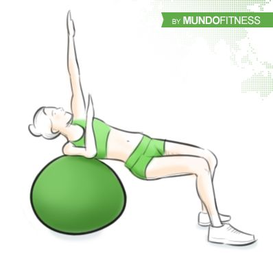 30 best ejercicios fitball images on pinterest for Abdominales