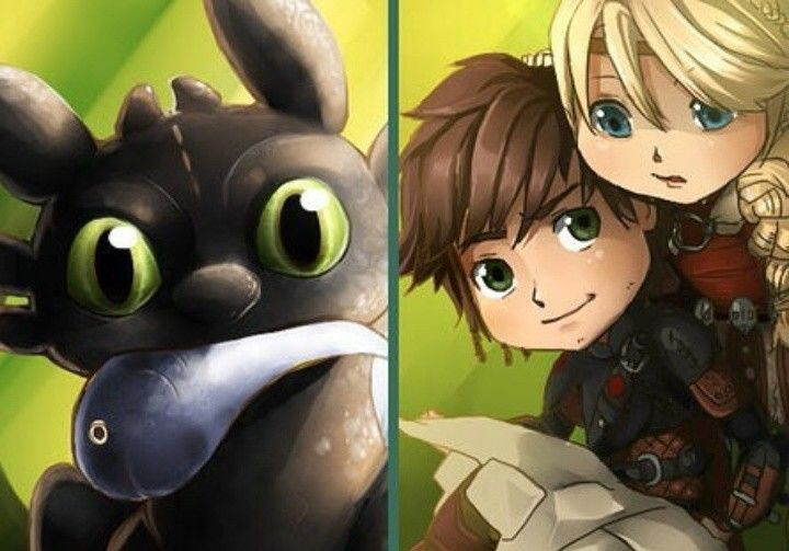 Adorable redefined. < Hiccstrid and Toothless. :)